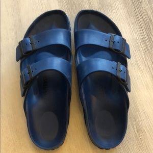 Rubber Birkenstocks. Women's size 40. Navy blue.